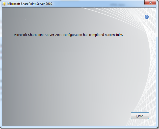 Microsoft SharePoint server 2010 encountered an error during setup. One or more required office components failed to complete successfully (3/4)