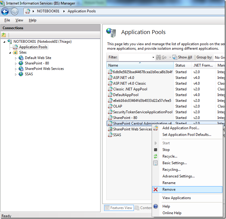 An IIS web site by the name of SharePoint Central Administration v4 already exists on this server (4/6)