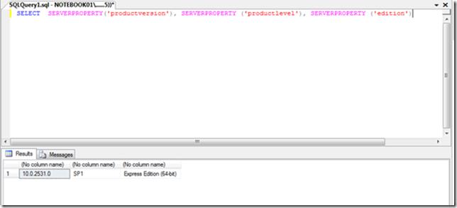 Como saber versão do SQL Server rodando? (2/3)