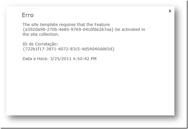 SharePoint 2010: Features e seus GUIDs (2/3)